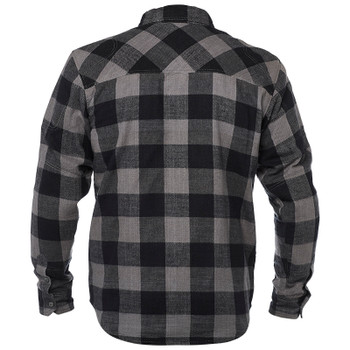 Speed and Strength Dropout Armored Moto Flannel Shirt - Black/Gray
