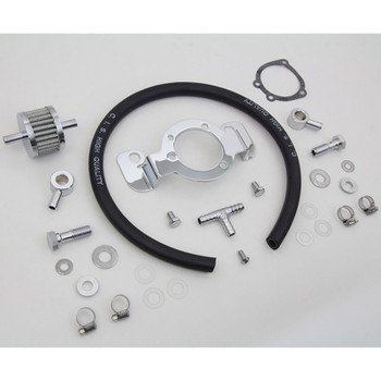 V-Twin Air Cleaner Crankcase Breather & Bracket Kit for 2007-Up Harley Sportster