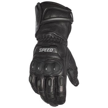 Speed and Strength Revolt Gauntlet Leather Gloves - Black