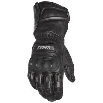 Speed and Strength Revolt Gauntlet Leather Gloves - Black