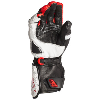Speed and Strength Revolt Gauntlet Leather Gloves - White/Black/Red