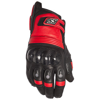 Speed and Strength Exile Leather Gloves - Black/Red