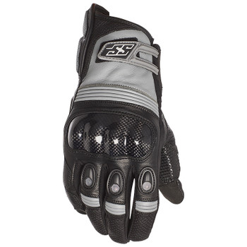 Speed and Strength Exile Leather Gloves - Black/Gray