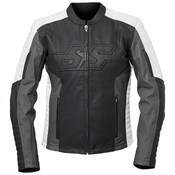 Speed and Strength Hellcat Women's Leather Jacket - Black/Gray/White