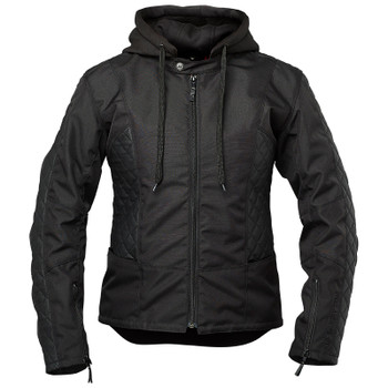 Speed and Strength Minx Women's Leather/Textile Jacket - Black