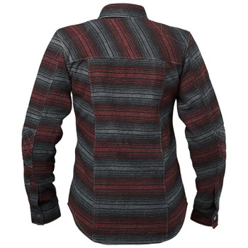 Speed and Strength Brat Women's Armored Moto Shirt - Black/Burgundy