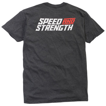 Speed and Strength Racer T-Shirt - Dark Heather Gray