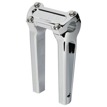 "Thrashin Supply 8"" Straight Handlebar Risers - Chrome"
