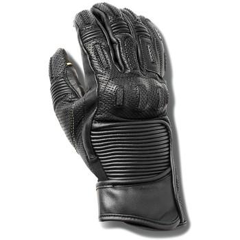 Roland Sands Punk Race Black Leather Gloves