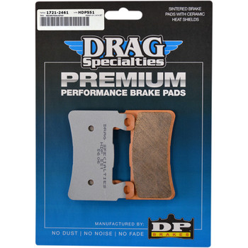 Drag Specialties Premium Sintered Metal Front Brake Pads for 2018-2019 Harley Softail - Repl. OEM #41300102
