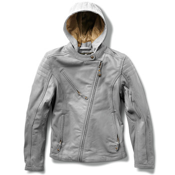 Roland Sands Women's Mia Leather Jacket - Grey