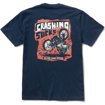 Roland Sands Crash T-Shirt - Navy Blue