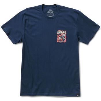 Roland Sands Crash T-Shirt - Navy Blue