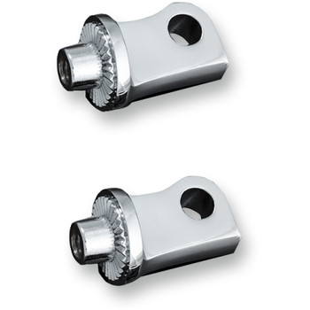 Kuryakyn Splined Peg Adapters for Harley Sportster - Chrome