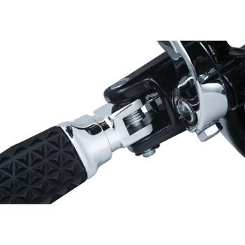Kuryakyn Splined Peg Adapters for 2018-2019 Harley Softail Driver - Chrome