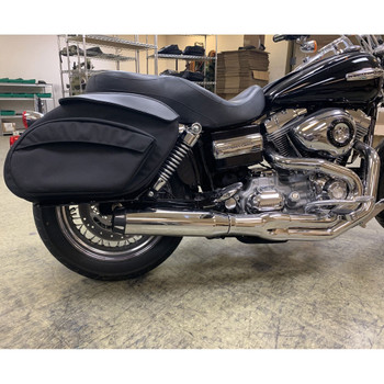 Leather Pros Retro Series V3 Saddlebags for Harley Dyna
