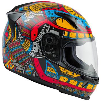 FLY Street Revolt FS Codex Helmet - Red/Blue/Yellow