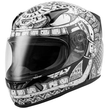 FLY Street Revolt FS Codex Helmet - White/Black