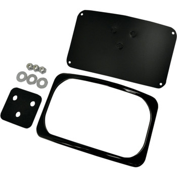 Drag Specialties Small Radius License Plate Mount for Harley - Gloss Black