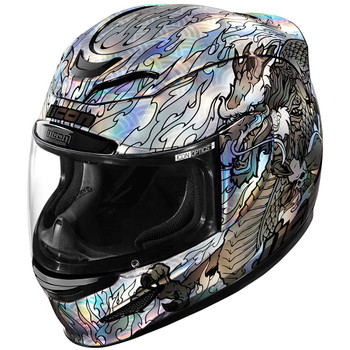 Icon Airmada Helmet - Silver Legion