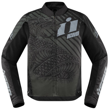 Icon Overlord SB2 Jacket - Serpecant Black
