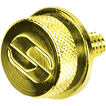 "Saddlemen 1/4"" - 20 Seat Mounting Knob for Harley - Gold"