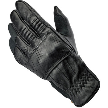 Biltwell Borrego CE Leather Gloves - Black/Black