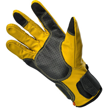 Biltwell Borrego CE Leather Gloves - Gold/Black