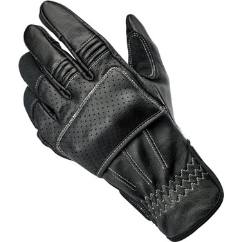 Biltwell Borrego CE Leather Gloves - Black/Cement