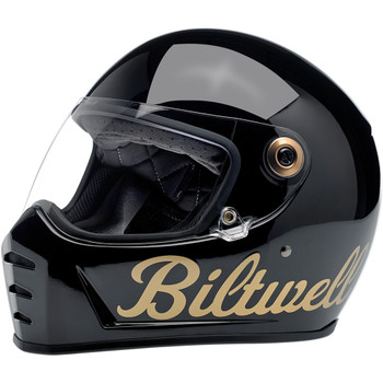 Biltwell Lane Splitter Helmet - Gloss Factory Black/Gold