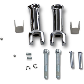 Drag Specialties Passenger Foot Peg Mount Kit for 2018-2019 Harley Softail - Chrome