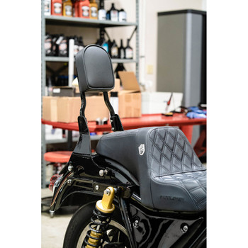 "Boosted Brad 13"" Quick Detach Sissy Bar Kit for Harley FXR - Gloss Black"