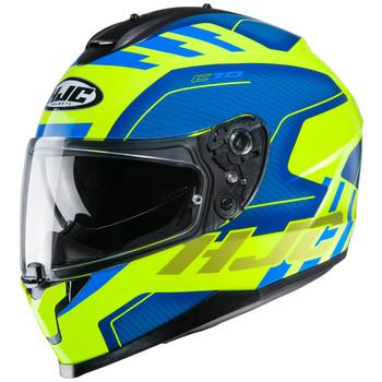 HJC Unisex-Adult Full Face CS-R3 Fullface Helmet Dosta Black//Grey//Hi-Viz Yellow, Md