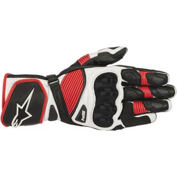 Alpinestars SP-1 V2 Leather Gloves - Black/White/Red