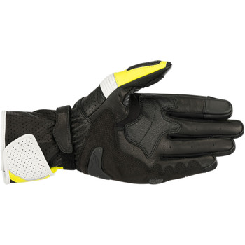 Alpinestars SP-1 V2 Leather Gloves - Black/White/Hi-Viz