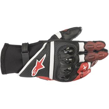 Alpinestars GP-X V2 Leather Gloves - Black/White/Red