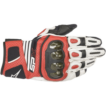 Alpinestars SP-X V2 Air Carbon Gloves - White/Black/Red