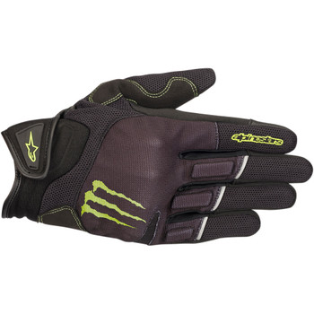 Alpinestars Monster Energy Raid Gloves - Black/Green