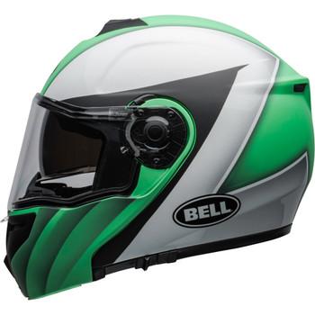 Bell SRT Modular Helmet - Presence Matte/Gloss Green/White/Black