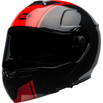 Bell SRT Modular Helmet - Ribbon Gloss Black/Red