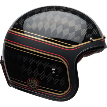 Bell Custom 500 Helmet - Carbon RSD Checkmate Matte/Gloss Black/Gold