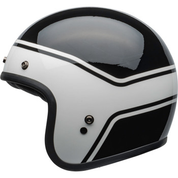 Bell Custom 500 Helmet - Streak Gloss Black/White