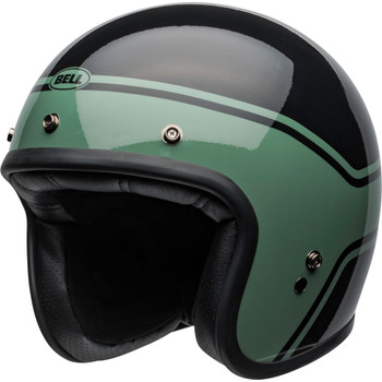 Bell Custom 500 Helmet - Streak Gloss Black/Green