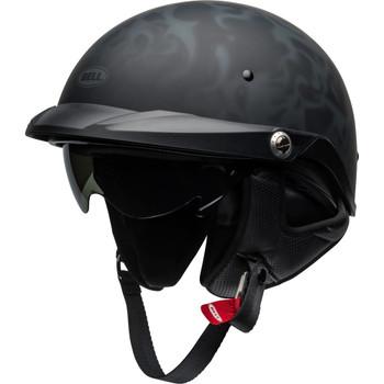 Bell Pit Boss Helmet - Flames Matte Black/Gray