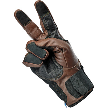 Biltwell Belden Leather Gloves - Chocolate Brown