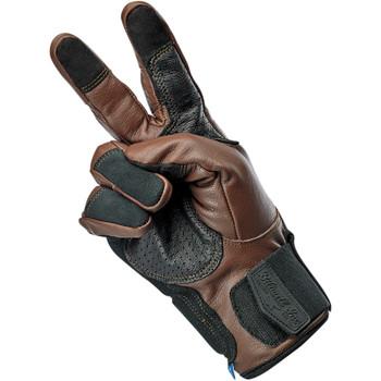 Biltwell Belden Leather Gloves - Chocolate Brown