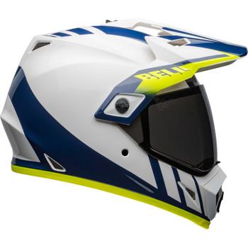 Bell MX-9 Adventure MIPS Helmet - Dash Gloss White/Blue/Hi-Viz