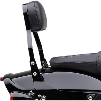 "Cobra Detachable 14"" Backrest Kit w/ Square Pad for 2018-Up Harley Fat Bob - Black"