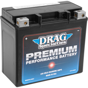 Drag Specialties Premium Performance Battery for Harley - Repl. OEM #65991-82B