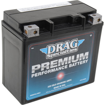 Drag Specialties Premium Performance Battery for Harley - Repl. OEM #65989-97A